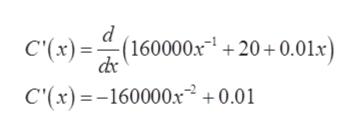 """d - С """") (160000х"""" + 20+ 0.01x) С(х) - -160000х? + - 0.01"""