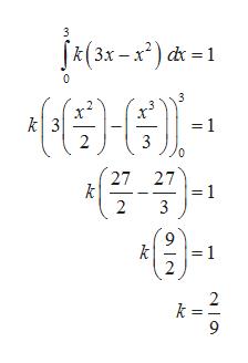 3 k(3x-x2 c 1 0 k 3 2 =1 27 27 = 1 3 2 k 2 1
