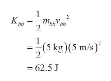 1 Крь m тъьУьь bb bb 2 1 (5 kg)(5 m/s) 2 - 62.5 J