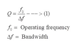 (1) Af fo= Operating frequency Af Bandwidth