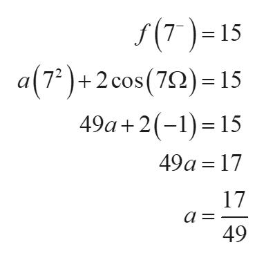 S(T)=15 a(7)+2 cos (72) 15 49a+2(15 77 49a 17 17 а - 49