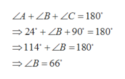 ZA+ZB+ZC = 180 24' ZB+90' 180 114ZB =180 >ZB = 66