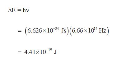 AE hv (6.626x 1034 Js) (6.66 x 104 Hz) 4.41x1019 J
