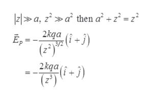 |z1a, za then a +z = z° 2kga (i j) E,= (2) 2 kqai+3 (2) =