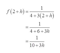 1 f(2+h) +3(2+h) 1 4 6 3/h 1 10 3h