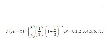 8-x Р(х - х) - ,x 0,1,2,3,4,5,6,7,8