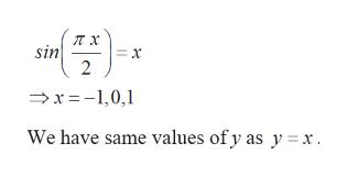sin = x 2 r-10, We have same values of y as y x