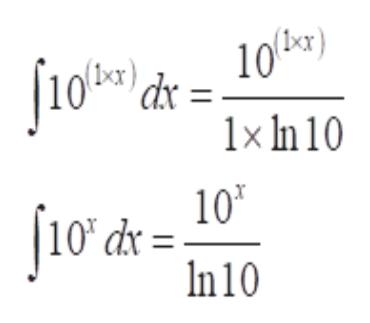 10br) 1x In 10 10T dx In 10