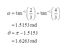 tan 3 a tan 1.5153 rad e= r -1.5153 1.6263 rad