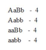 АаBЬ - 4 Aabb - 4 aаBb - 4 aabb - 4
