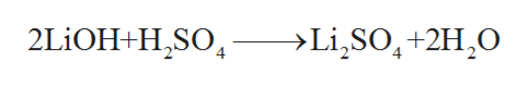 2LiOH+HSO ->Li,SO,+2H2O