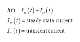 t)1()+1, (t) I (t)= steady state current I (t)transientcurrent