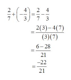 2 4 2 4 7 3 2(3)-4(7) (3)(7) 6-28 21 -22 21