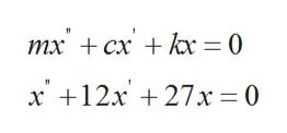 тх + сх + h 3 0 х +12х + 27х %3D0