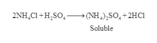 2NH CI HSO (NH)SO+2HC Soluble