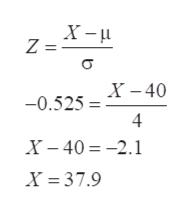X- Z = -0.525 = -40 4 X- 402.1 X 37.9