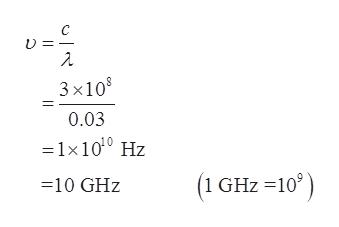 C 3x108 0.03 1x100 Hz ) (1 GHz 10 10 GHz