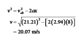 v2-v-2x v21.21)-[2(2.94)(8) 20.07 m/s