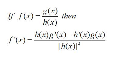If f(x) 1then h(x) f(x)= x)g '(x)-h'(x)g(x) hx)]
