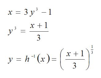 x 3 y х+1 3 y h(x) 3 en