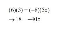(6)(3) (-8)(5z) 18-40z
