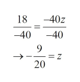 -40z 18 -40 -40 9 =z 20