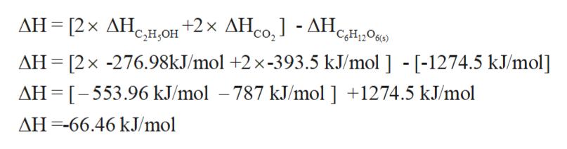 ДН - [2х ДН,нон +2х ДН о, 1 -АН, CH1206) AH [2 x -276.98KJ/mol +2 x -393.5 kJ/mol ] - [-1274.5 kJ/mol] AH [-553.96 kJ/mol -787 kJ/mol ] +1274.5 kJ/mol AH66.46 kJ/mol