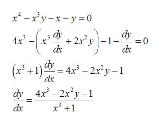 """x* — ху -х -у30 dy -1- dy + 2x"""" у 4x3 0 = (x+1)dy — 4x) — 2х?у -1 dy _4x* - 2x*у -1 х +1 dx"""