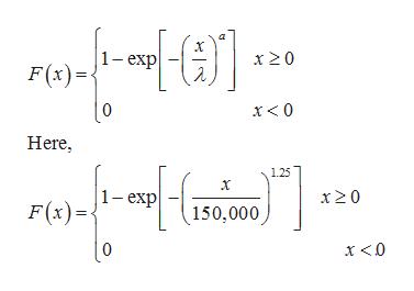 1-exp 2 x 20 F(x) | 0 Here, 1.25 1 -exp F(x) x 2 0 150,000 [0