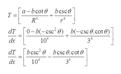 a-bcote bcsce Т- 0-b(-csc2e) b(-csc0.cot e) 102 dT 34 bcsc2 e bcsc0.cot0 dT 104 dx