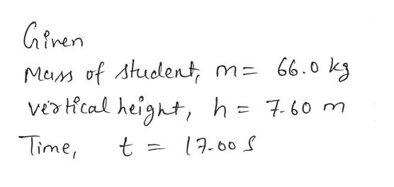 Giren Mam of Atudlent vecal height, h= 7.60 m 66.0 k3 Time, t 17.00