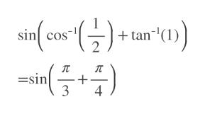 """  + tan""""(1)) sin cos =sin 3 4"""