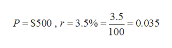 3.5 0.035 100 P S500, 3.5% =