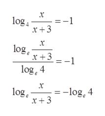 =-1 log x +3 x log x +31 log, 4 x = -log, 4 log x+3