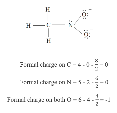 Н С — N н- Formal charge on C = 4 -0-- 0 2 6 0 2 Formal charge on N 5 - 2 4 -1 2 Formal charge on both O 6- 4 Z -H