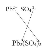 Pb2 SO4 2- Pb2(SO4)2