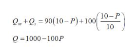 m+O90(10-P)+100 10-P 10 Q 1000-100P