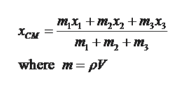 тx + m,x, + т,х, Хсм т, + m, + m, where m pV