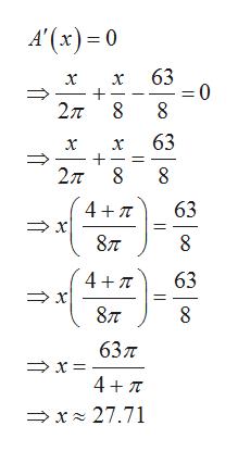 A'(x)0 63 x 0 = 2π 8 8 63 2π8 47T 63 877 8 4 T 63 x 877 637 x 4 TT x 27.71