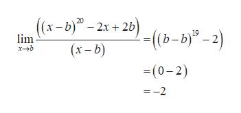 ((x-b)-2x+2)(b-b)-2) 19 lim (x-b) xb (0-2) =-2