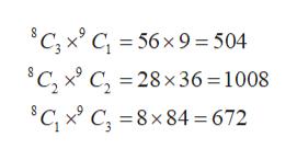 C, xC56x9 504 C, x C, = 28x 36 = 1008 C, x C 8x84 = 672