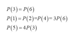 P(3) P(6) P(1) P(2)P(4) 3P(6) P(5) 4P(3)