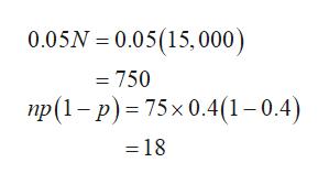 0.05N 0.05(15,000) = 750 пр(1- Р) - 75х 0.4(1 -0.4) =18