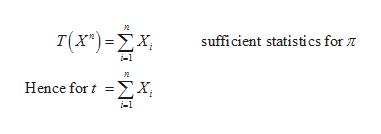 2 Τ(χ') -ΣΧ sufficient statistics for T 2 Hence for X