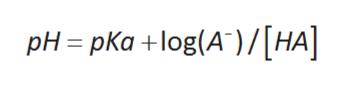 pH=pKa +log(A)/[HA]