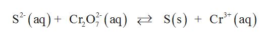 """s* (aq) + C;O; (aq) स्टे S( s ) + Cr """" (aq) C;O; (aq) स्टे s(s )"""