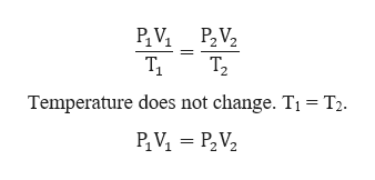 P2 V2 Т, Temperature does not change. T1 T2