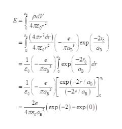 pаY Е- 4ле (4лr*dr) exp 4ле ла аз в dr exp Лаз аз е, а еxp(-2r/ a,) (-2r/ ag) ла, е, 2e ( екp (-2) - скр (0)) 4ле,ар Ф Il II