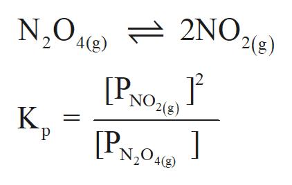 N2042) 2NO, '2(g) '4(g) 2 NO2(8) [PNO К. р [P N204()