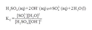 HSO (aq)+2OH (aq)=so (aq)+2H,0( [SO HO Kc H,SOOH